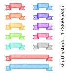 ribbon decoration drawn with... | Shutterstock . vector #1738695635