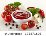 Bowl Of Tomato Sauce With Fres...