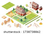 set of isolated playground... | Shutterstock . vector #1738738862
