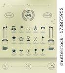golf. set of vintage patterns.... | Shutterstock .eps vector #173875952