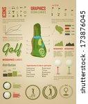 golf. vector labels. set... | Shutterstock .eps vector #173876045