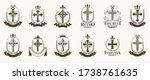 vintage christian crosses... | Shutterstock .eps vector #1738761635