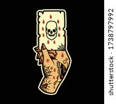 skull card tattoo vector design | Shutterstock .eps vector #1738797992