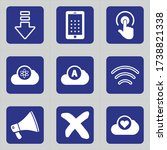 set of 9 icons such as arrow ... | Shutterstock .eps vector #1738821338