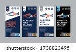 vector salmon vertical labels....   Shutterstock .eps vector #1738823495