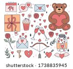 Valentines Day Stickers With...