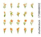 vector logo templates set of...   Shutterstock .eps vector #1738848032