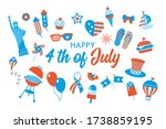4th of july  independence day... | Shutterstock .eps vector #1738859195