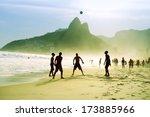 carioca brazilians playing... | Shutterstock . vector #173885966