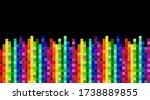 rainbow mosaic banner. seamless ... | Shutterstock .eps vector #1738889855