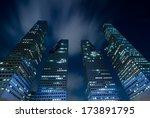 singapore jan 24  suntec towers ... | Shutterstock . vector #173891795
