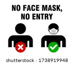 no entry without face mask or...   Shutterstock .eps vector #1738919948