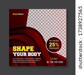 fitness square social media... | Shutterstock .eps vector #1738927565