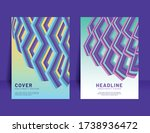abstract colorful zig zag shape ... | Shutterstock .eps vector #1738936472