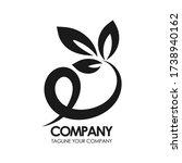 leaf logo vector. leaf eco logo. | Shutterstock .eps vector #1738940162