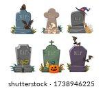 Set Of Gravestones With Rest In ...