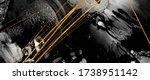 luxurious ink bouquet nature.... | Shutterstock . vector #1738951142