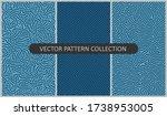 set of vector patterns in flat... | Shutterstock .eps vector #1738953005