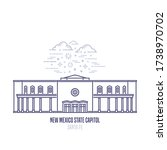 new mexico state capitol... | Shutterstock .eps vector #1738970702