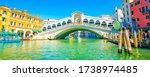 grand canal and rialto bridge... | Shutterstock . vector #1738974485