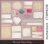 collection of romantic paper... | Shutterstock .eps vector #173898248