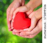 Love. Valentine Heart In Femal...
