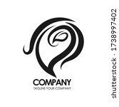 eco leaf vector logo monogram.... | Shutterstock .eps vector #1738997402
