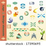 vector design elements 28 pieces | Shutterstock .eps vector #17390695