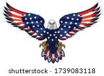 american eagle with usa flags | Shutterstock .eps vector #1739083118