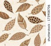 seamless pattern of handmade... | Shutterstock . vector #173908706