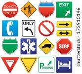 vector illustration of road... | Shutterstock .eps vector #173910146