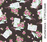 seamless pattern with letters... | Shutterstock .eps vector #1739121668