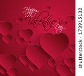 overlapping heart valentine's... | Shutterstock .eps vector #173915132