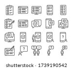 survey icons. survey and... | Shutterstock .eps vector #1739190542