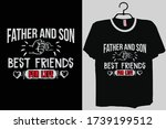 father and son best friends for ... | Shutterstock .eps vector #1739199512