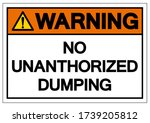 warning no unauthorized dumping ... | Shutterstock .eps vector #1739205812