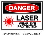 danger laser wear eye... | Shutterstock .eps vector #1739205815