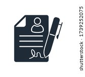 documents with personal data....   Shutterstock .eps vector #1739252075