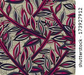 elegant seamless pattern with... | Shutterstock . vector #173927912
