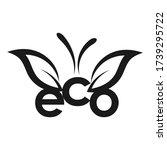 eco leaf vector logo monogram.... | Shutterstock .eps vector #1739295722