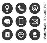 set of vector contact icons on... | Shutterstock .eps vector #1739308148
