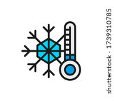 snowflake with a thermometer ... | Shutterstock .eps vector #1739310785