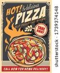 hot pizza delicious italian... | Shutterstock .eps vector #1739374148
