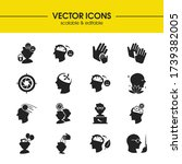 anatomy icons set with think...