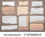 torn white and brown note ... | Shutterstock .eps vector #1739388965