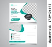 health care postcard template... | Shutterstock .eps vector #1739406695