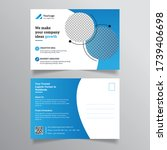 health care postcard template... | Shutterstock .eps vector #1739406698
