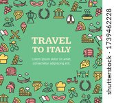 travel to italy round design... | Shutterstock .eps vector #1739462228