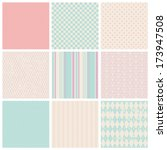 Stock vector set of seamless patterns 173947508