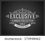 exclusive advertising vintage... | Shutterstock .eps vector #173948462